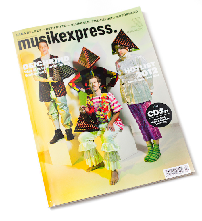 Cover musikexpress, Feb 2012 by Nikolaus Brade.