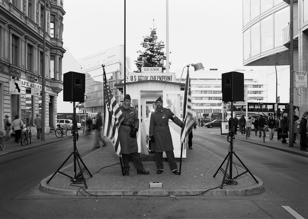 Actor, Checkpoint Charlie by Nikolaus Brade.