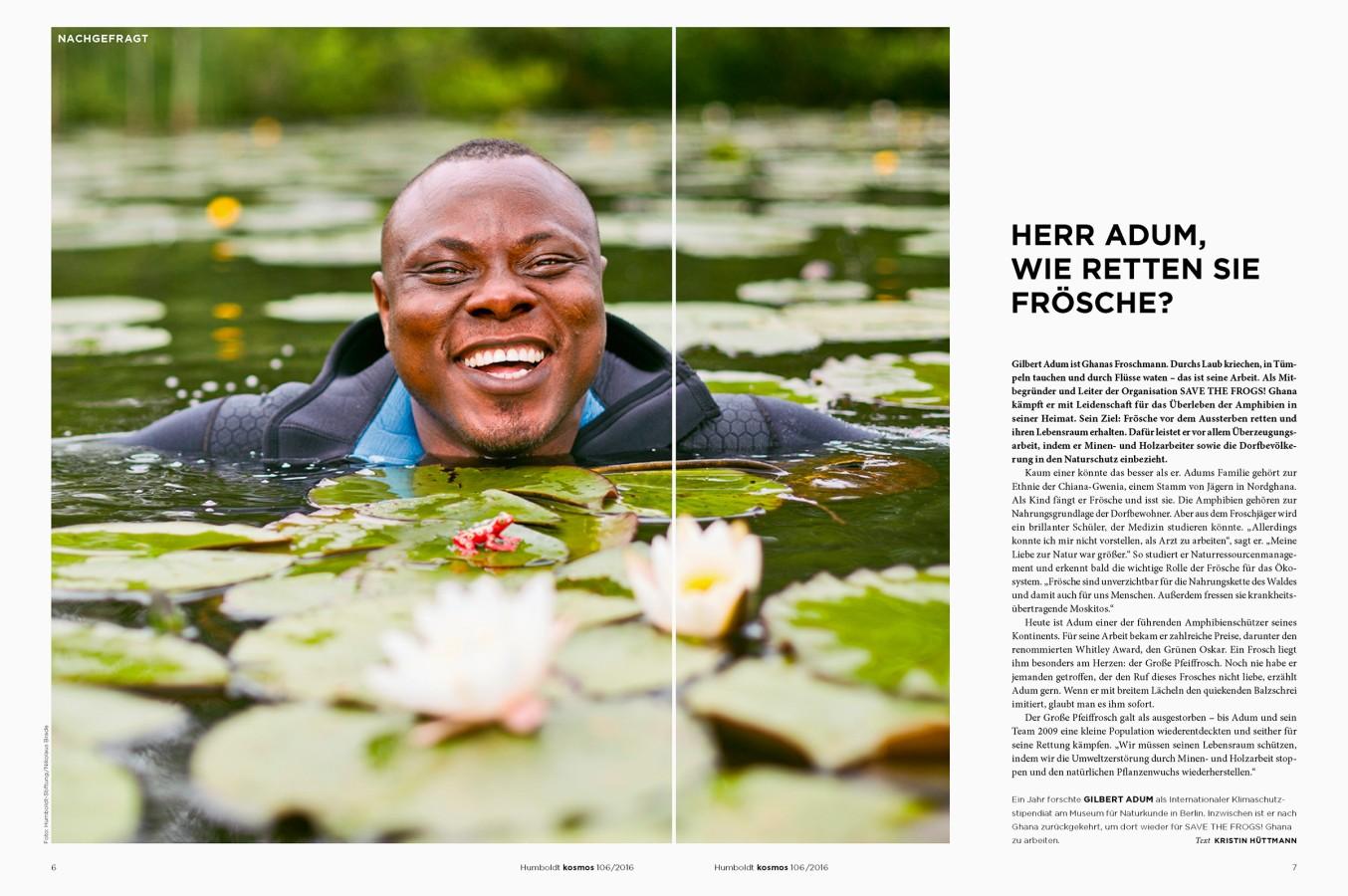 Gilbert Adum in a River near Berlin by Nikolaus Brade.