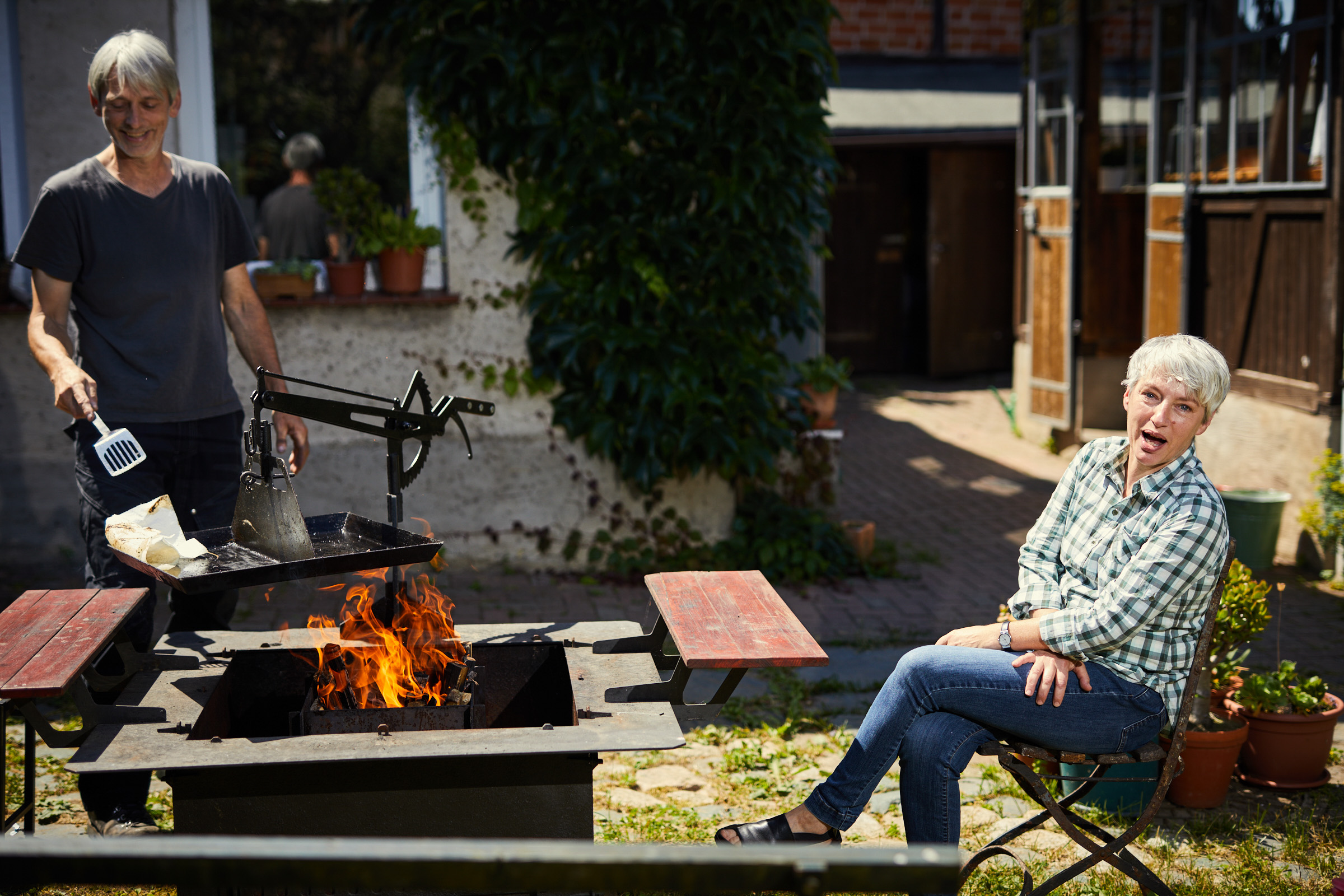 Barbecue with Sabine and Felix by Nikolaus Brade.