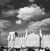 Christo and Jeanne-Claude in Berlin, June 1995 by .
